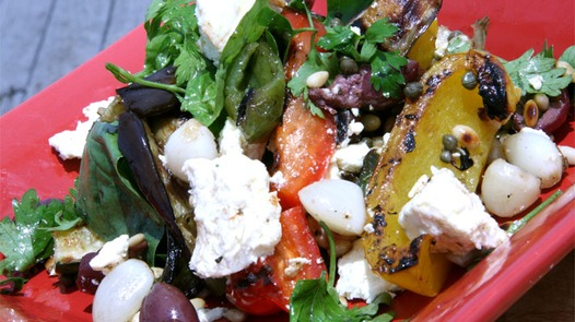 Warm Roasted Vegetable Mediterranean Salad Recipe — Dishmaps